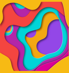 3d abstract background with paper cut shapes vector