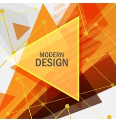 Abstract rapid triangular design vector image