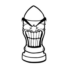 Angry funny bullet vector