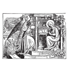Annunciation the angel gabriel appears vector