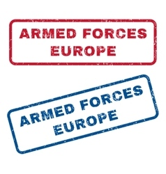 Armed Forces Europe Rubber Stamps vector