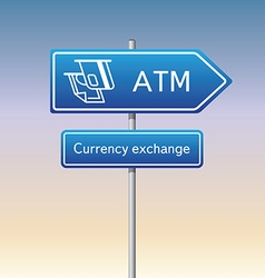ATM sign vector image