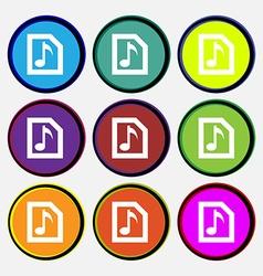 Audio MP3 file vector image