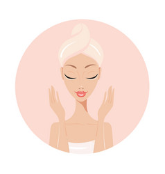 beautiful young woman perfect face skin beauty spa vector image vector image