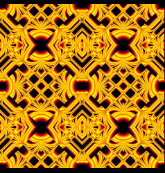 Black and yellow seamless pattern vector