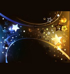 black background with contrasting stars vector image