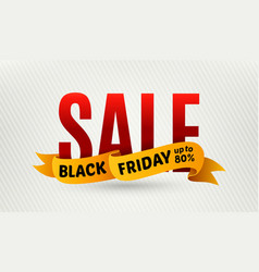 Black friday sale design template Sale banner vector image