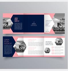 brochure design 1237 vector image