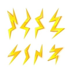 Cartoon set of Lightning Bolts vector