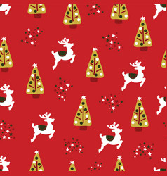 christmas holidays seamless repeat pattern vector image