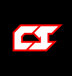 ci logo design initial ci letter design vector image