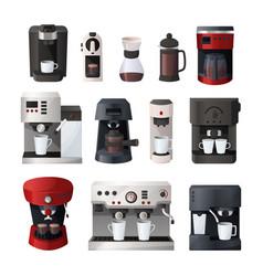 coffee maker cartoon espresso machine vector image