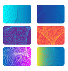 covers design backgrounds for a credit card vector image