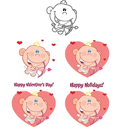 Cupid cartoon vector