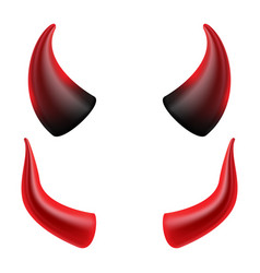 Devil horns demon or satan horns symbol vector