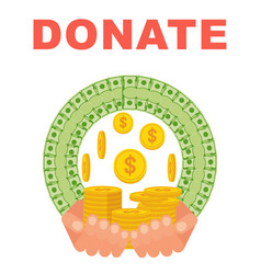 donate money concept vector image