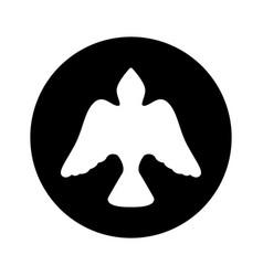 Dove bird silhouette icon vector