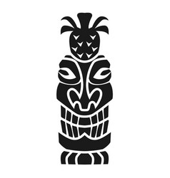 Exotic idol icon simple style vector