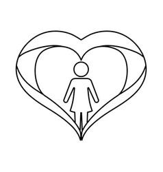 female gender avatar vector image