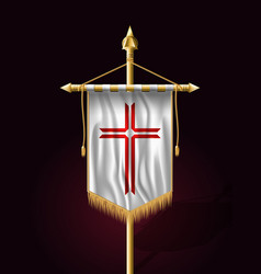 Festive banner vertical flag with religious cross vector