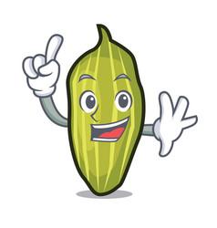 Finger cardamom mascot cartoon style vector