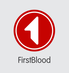 Firstblood cryptocurrency - coin image vector