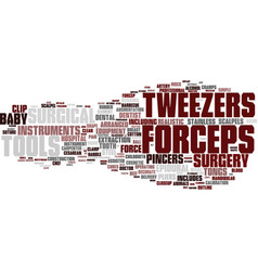 Forecast word cloud concept vector