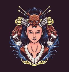 Geisha japan vector