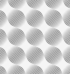Gray ornament diagonal bulging shapes vector