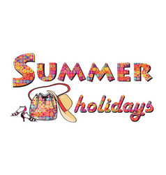 Hello summer background summer holidays cover vector