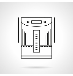 Home climate devices flat line icon vector