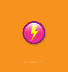 Icon lightning electricity discharge vector