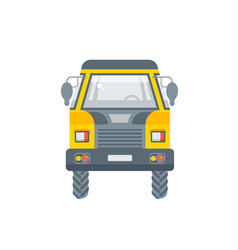 kipper truck front view in flat style vector image