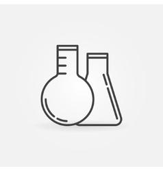 Laboratory glass concept icon vector
