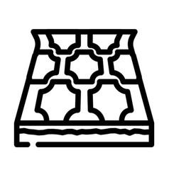 Linoleum layer floor line icon vector