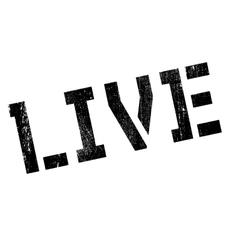 Live stamp rubber grunge vector image