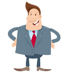 manager or businessman cartoon character vector image
