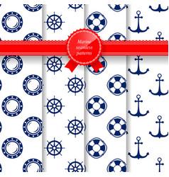 Marine summer seamless pattern vector