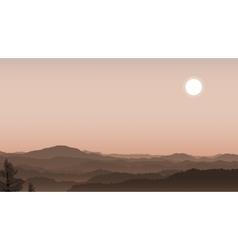 Misty hills vector