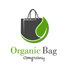 natural shopping bag logo design vector image