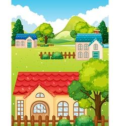 Neighborhood with many houses vector