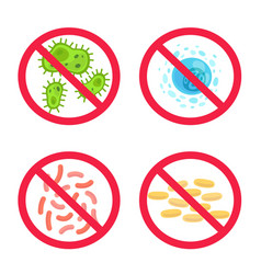 no germs clean antibacterial control and vector image