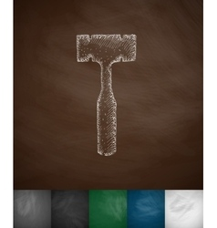 orthopedic hammer icon vector image