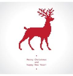 Pixel deer vector
