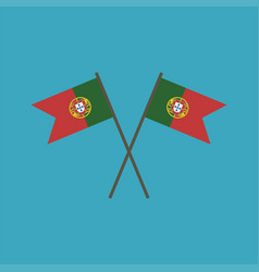 portugal flag icon in flat design vector image