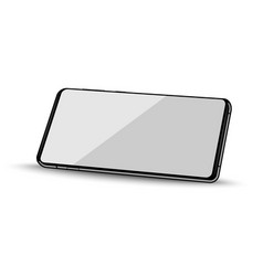 realistic smartphone in perspective view vector image