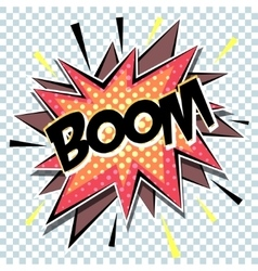 retro cartoon explosion pop art comic boom vector image