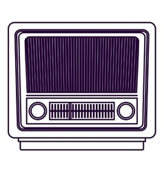 Retro radio technology design vector