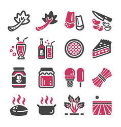 rhubarb icon set vector image