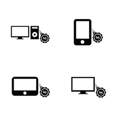 Sale digital devices icon vector